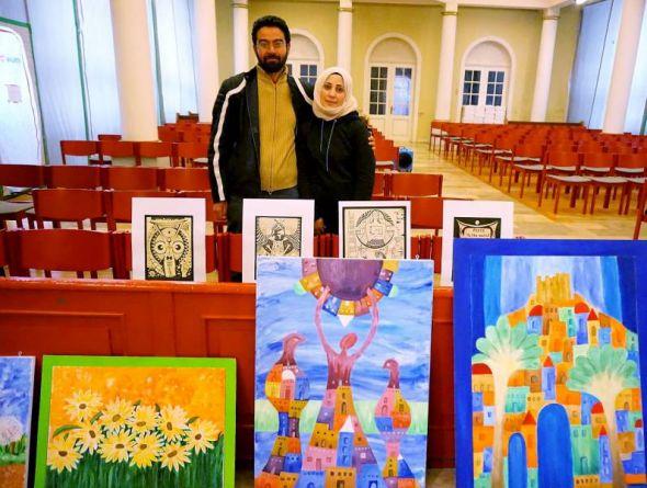 Das Künstler-Ehepaar Ayman und Neshim Darwich.