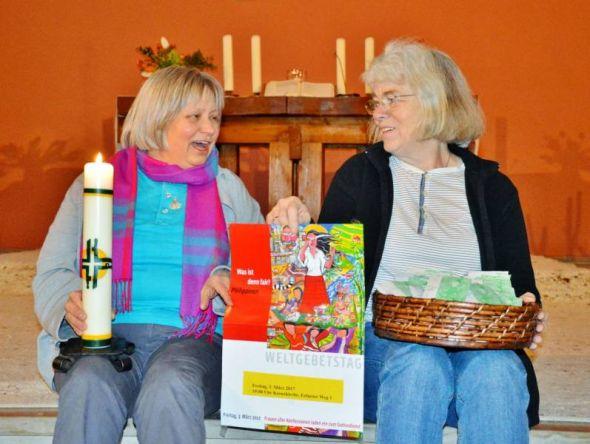 Johanna Friedlein und Gerda Thiel freuen sich schon sehr auf den gemeinsamen Gottesdienst in Osterode.