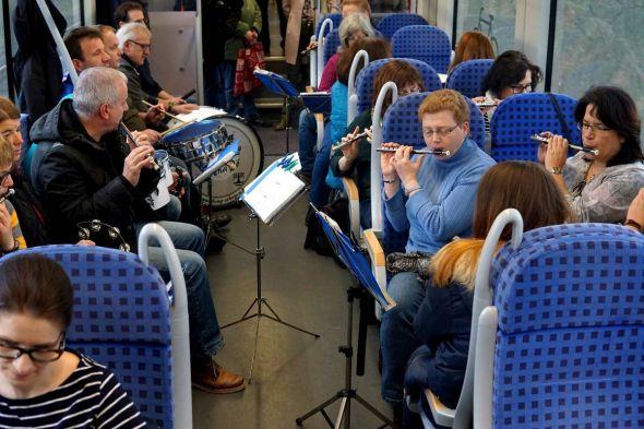 Der Musikzug Scharzfeld/Pöhlde zeigte sich für die Musik verantwortlich