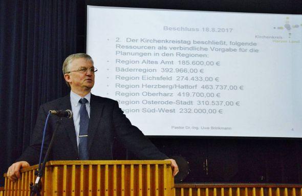 Pastor Dr. Uwe Brinkmann fasste die Ergebnisse des Perspektivprozesses zusammen.