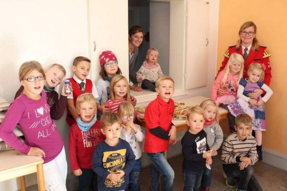 Die Kinder waren alle fröhlich und gut gelaunt bei der Sache